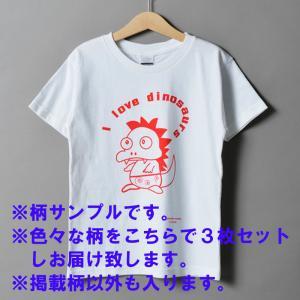売尽しセール価格 子供服 3枚セット 120サイズ 女の子 男の子 Tシャツ 半袖 普段着 子ども キッズ 男女兼用(ベース白地/柄)|la-ampleur