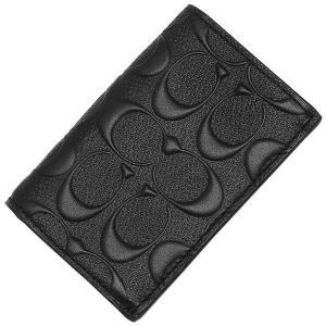 ☆コーチ メンズ カードケース PVC シグネチャー 小物/ F12023-BLK|la-blossoms
