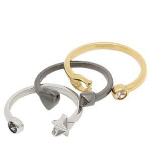 コーチ COACH リング アクセサリー アウトレット STARDUST RING SET レディース 指輪 セット US7号 BOX付き F24238-L38|la-blossoms
