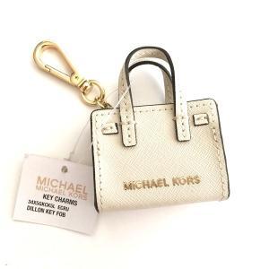 マイケルコース レザーバック モチーフ キーリング/34X5SKCK4L オフホワイト系|la-blossoms