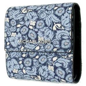MICHAEL KORS マイケルコース アウトレット Jet Set Travel キャリオール フローラル PVC レザー 三つ折り財布 /35F8STVD1R la-blossoms