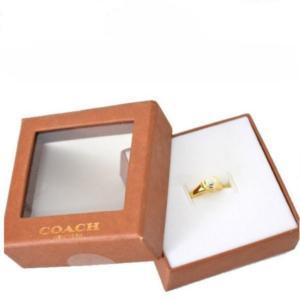 コーチ COACH USサイズ6号 ジュエリー ハート ターンロック リング BOX付き アウトレット品 レディース F54491-SV/GD|la-blossoms