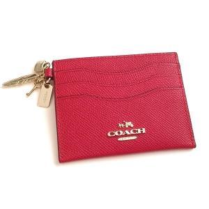 コーチ カードケース  レザー カード ケース チャーム付/65146-IMRED|la-blossoms
