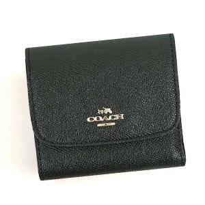 コーチ 財布 二つ折り/クロスグレイン レザー コインケース/F87588-IMBLK|la-blossoms