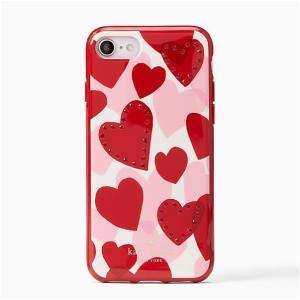 【訳あり】ケイトスペード ジュエル ハート iPone7/8 ケース red multi jeweled heart /8ARU-2400|la-blossoms