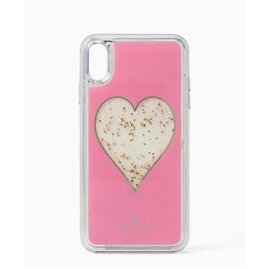 ケイトスペード iPhoneケース XR対応 レディース/ウィメンズ ハート リキッド グリッター 新作 / 8ARU6015-974|la-blossoms