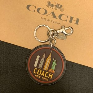 コーチ キーホルダー COACH ニューヨーク スカイライン バッグチャーム / キーホルダー /F32687-SVBK|la-blossoms