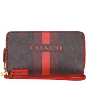コーチ COACH 財布 二つ折り財布 ブラウン×トゥルーレッド F54005-IML72|la-blossoms