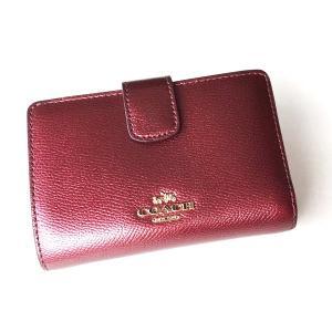 コーチ 財布/クロスグレイン ミディアム コーナー ジップ 二つ折り財布/F54010-IME42|la-blossoms