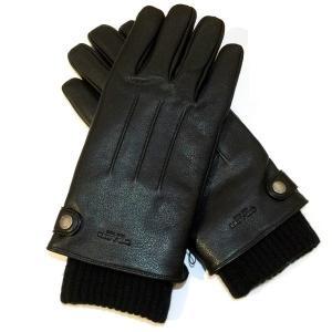 コーチ メンズ 手袋 レザー グローブ ニット グローブ付/F54183-BLK(M) la-blossoms
