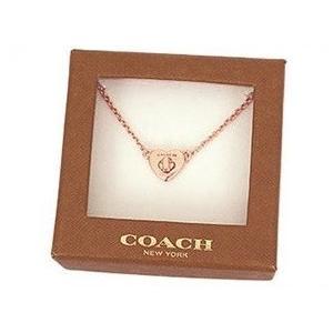 COACH/コーチ オリジナル箱付/コーチ ターンロック ハートスタッド ネックレス/F54487-RGD|la-blossoms