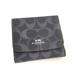 コーチ 財布 二つ折り/PVC デニム コインケース/F57982-SVDE|la-blossoms