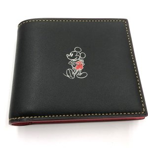 コーチ 財布 ミッキー 3-IN-1 ウォレット ディズニ― メンズ 二つ折り財布/ F58938-BLK|la-blossoms