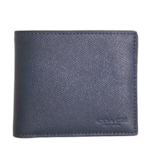 F59112 BHP COACH コーチ 財布 二つ折り財布 レザー ミッドナイト ネイビー|la-blossoms