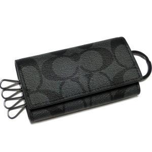 コーチ メンズ 財布/ PVC シグネチャー 4連 キーケース/F64005-CQBK la-blossoms