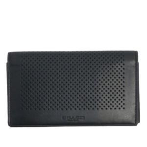 コーチ メンズ 財布/パンチング フォンウォレット iPhone7/6/5スマホ対応/F65204-BLK|la-blossoms