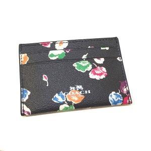 コーチ カードケース PVC ワイルドフラワー パスケース/F65574-SVF98|la-blossoms