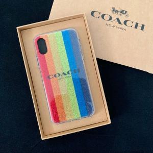 コーチ アイフォンケース アイフォン X COACH iPhoneケース マルチカラー ラメ  /F68640-MTI|la-blossoms