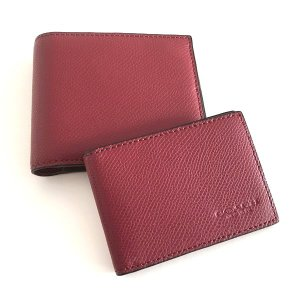 コーチ メンズ 財布/クロスグレイン レザー IDケース付き 二つ折りウォレット/F74974-BCY|la-blossoms