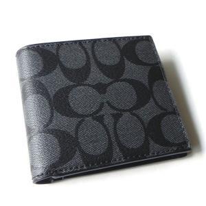 コーチ メンズ 財布/シグネチャー コイン ウォレット二つ折り財布/F75006-CQBK la-blossoms