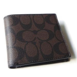 コーチ メンズ 財布/シグネチャー コイン ウォレット二つ折り財布/F75006 MA/BR|la-blossoms
