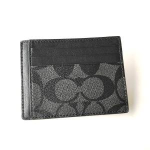 コーチ メンズ カードケース PVC シグネチャー IDケース/F75027-CQBK|la-blossoms