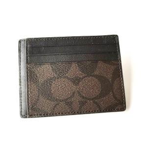 コーチ メンズ カードケース PVC シグネチャー IDケース/F75027-MABR|la-blossoms