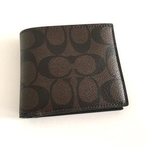 コーチ メンズ 財布/ シグネチャー 二つ折りウォレット/ F75083-MABR|la-blossoms