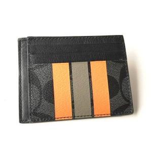 コーチ メンズ カードケース ヴァーシティ シグネチャー PVC IDケース/F75421-AL0|la-blossoms