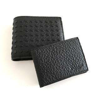 コーチ メンズ 財布/スタッズ レザー  IDケース付き 二つ折りウォレット/F75443-BLK|la-blossoms