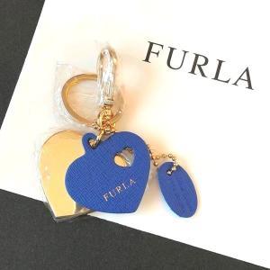 フルラ キーホルダー ハート キーリング バックチャーム ブルー FULRA la-blossoms