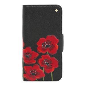 ケイトスペード ポピー柄 iPhone X 手帳型 スマホケース WIRU0926-006|la-blossoms
