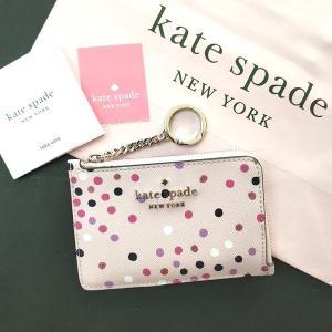 ケイトスペード 小物 小銭入れ コインケース 水玉 ドット ピンク kate spade/WLR00193-673|la-blossoms