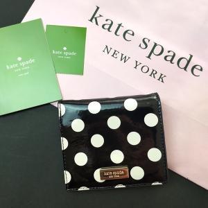 ※訳あり ケイトスペード 財布 二つ折り ミニ財布 水玉 kate spade/WLRU2111-091|la-blossoms