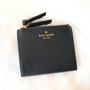 kate spade ケイトスペード  二つ折り財布 スモール マレア マルベリー ストリート ウォレット レザー ブラック レディース WLRU3075-001|la-blossoms