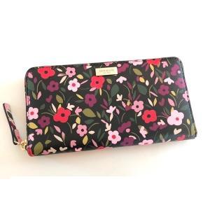 ケイトスペード 財布 長財布 フラワー neda laurel way ラウンドファスナー/WLRU5045-006|la-blossoms
