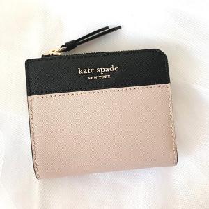 ケイトスペード 折財布 アウトレット レディース KATE SPADE ウォームベージュ/ブラック / WLRU5430-195|la-blossoms