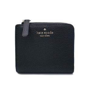 ケイトスペード 財布 アウトレット 二つ折り財布  L字ファスナー ブラック / WLRU5471-001|la-blossoms