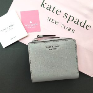 ケイトスペード 財布 アウトレット 二つ折り財布  kate spade L字ファスナー グレージュ / WLRU5471-062|la-blossoms
