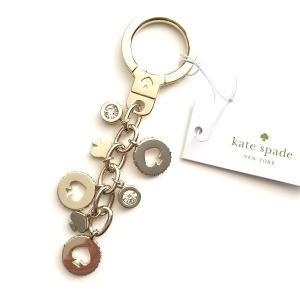 ケイトスペード キーホルダー kate spade/クリスタル カットスペード ドロップ キーリング/WORU0095-711|la-blossoms