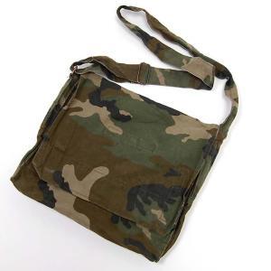 クロアチア軍本物バッグ  薄手生地ショルダーバッグ  蓋はマジックテープ留め  生地はコットン素材 ...