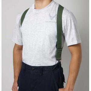 アメリカ軍本物サスペンダー   使用方法は簡単で どのパンツにも装着可能 パンツのベルトループにサス...