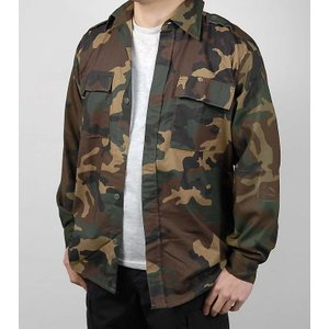 クロアチア軍本物カモフラージュシャツ  コットン/ポリ素材とコットン素材  胸ポケット2つ  前はボ...