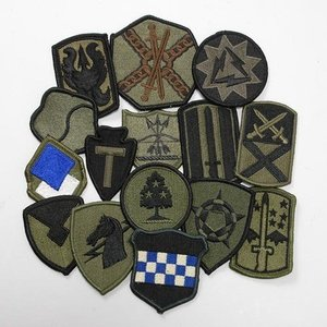 US.OD.部隊章ワッペン(新品)5枚セット