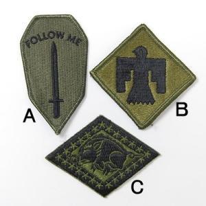 ミリタリーワッペン、US.ミリタリー、OD.部隊章ワッペン(新品)1A