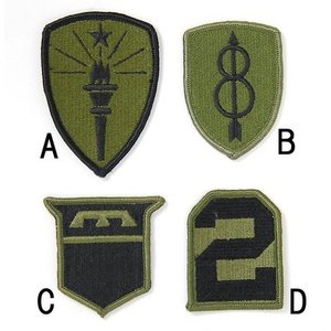 US.ミリタリー、OD.部隊章ワッペン(新品)4