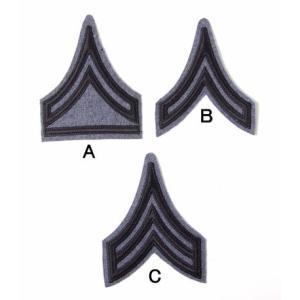 US.下士官、階級章(ブルーグレー)(新品、ミリタリーワッペン)