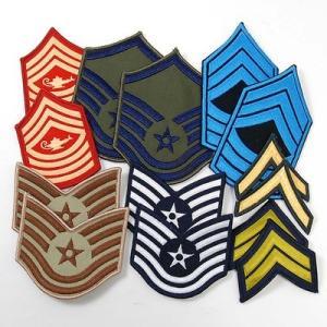 US.階級章ワッペン(新品)10枚セット