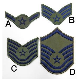 US.エアフォース階級章(新品、ミリタリーワッペン)
