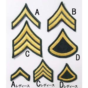 US.ARMY,階級章(USED、ミリタリーワッペン)